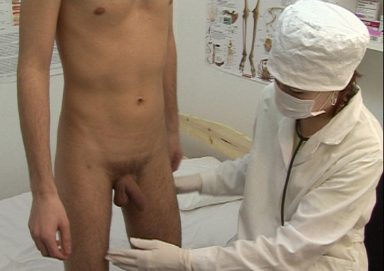 Medical fetish prostate stimulation handjob 2